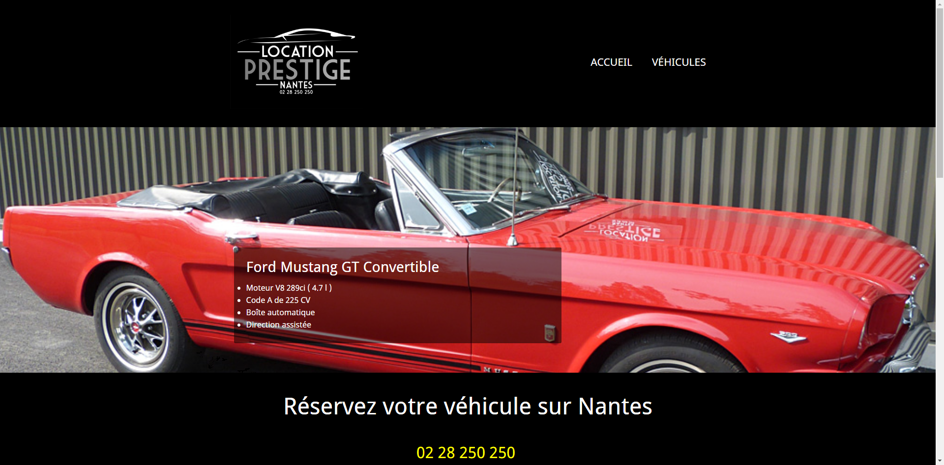 Site Internet Location Prestige Nantes